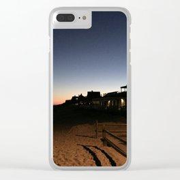 Main Beach Hut Sunset Clear iPhone Case