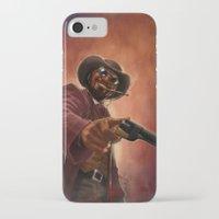 django iPhone & iPod Cases featuring Django by Andrea Mangiri