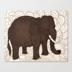Brown Woolly Mammoth Canvas Print