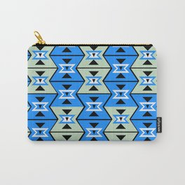Blue shapes Carry-All Pouch