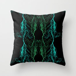 Techno Tree Throw Pillow