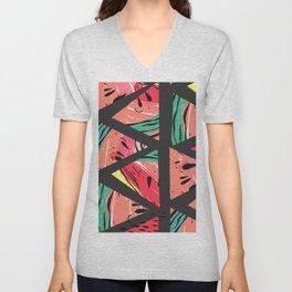 Black Watermelon Pattern Unisex V-Neck