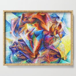 Umberto Boccioni - Dynamism of a Soccer Player - Digital Remastered Edition Serving Tray