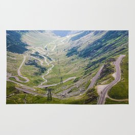 Transfagarasan Road Rug