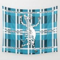 zebra Wall Tapestries featuring Zebra  by mailboxdisco