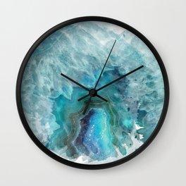 Blue Aqua Agate Wall Clock
