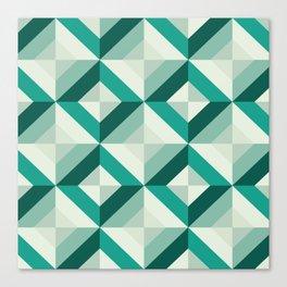 Emerald (Geometric pattern series) Canvas Print