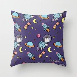Space Unicorn Pattern NickyToons Throw Pillow