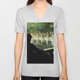 The White Ballet - Everett Shinn Unisex V-Neck