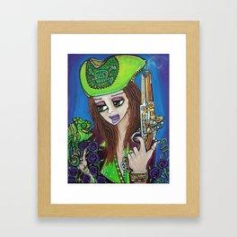 Poppet Pirate at Chameleon Cove Framed Art Print