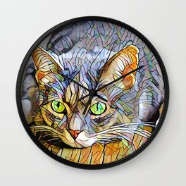 The TABBY II from our FUNK YOUR FELINE line Wall Clock