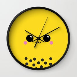 Mango Bubble Tea Yellow Pudding Boba Milk Tea Wall Clock