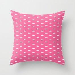 Tiny Subs - Pink Throw Pillow