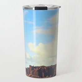Sun Kissed Stone Pillars Travel Mug