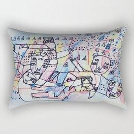 Animal Past Rectangular Pillow