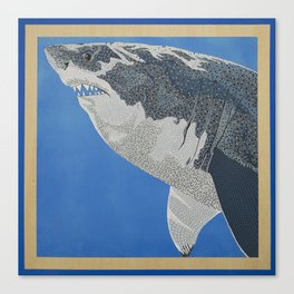 Fool Like You For Breakfast- Great White Shark Canvas Print