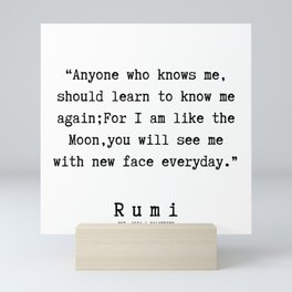 90  | Rumi Quotes | 190221 Mini Art Print