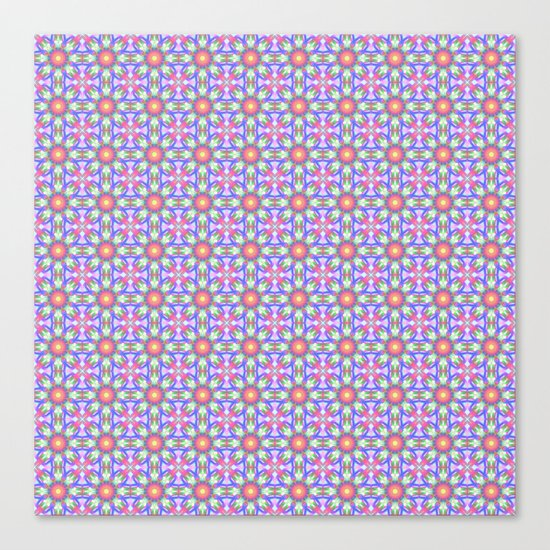 Cute floral spring patterns Canvas Print