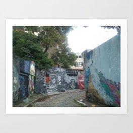 beco do graffiti na vila madalena Art Print