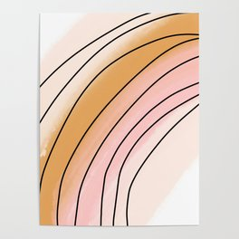 Watercolor Rainbow Poster