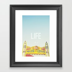 Life Is A Roller Coaster Framed Art Print