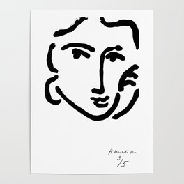 Henri Matisse Nadia With a Serious Expression, Original Artwork, Tshirts, Prints, Posters Poster