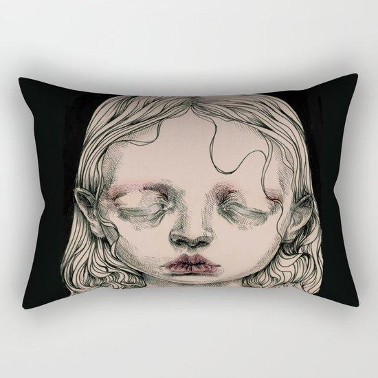 Rabbit Eyes Rectangular Pillow