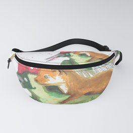 Weasel Riding Woodpecker Gang Fanny Pack