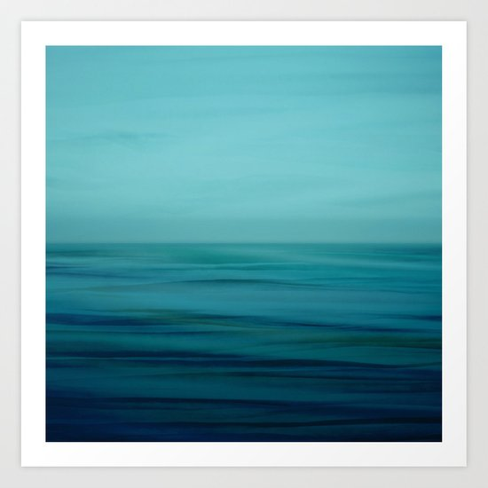 Greenish Blues Art Print