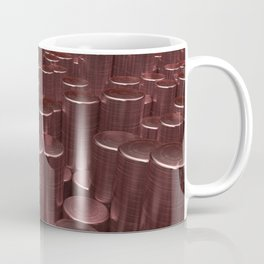 Pattern of red brushed metal cylinders Coffee Mug