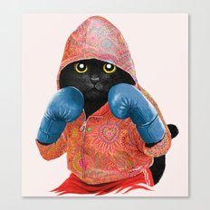 Boxing Cat 2  Canvas Print