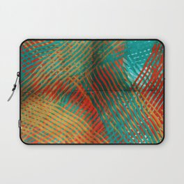 Red and Turquoise Weave Laptop Sleeve