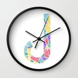 J Pastel Lines Wall Clock
