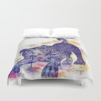 panther Duvet Covers featuring panther splash! by Ancello
