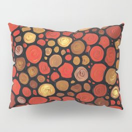 Lovers -Warm Earthy Mosaic Painting by Labor of Love artist Sharon Cummings. Pillow Sham