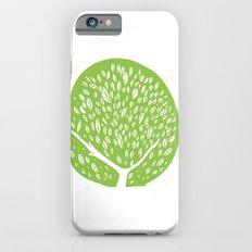 Tree of life - pea green iPhone 6s Slim Case