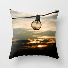 Unlit Sunset.  Throw Pillow