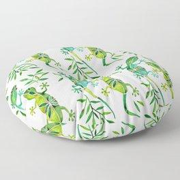 Geckos – Green Palette Floor Pillow