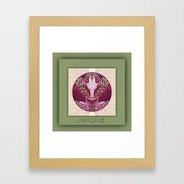 Imagine Manifestation Mandala No. 3 Framed Art Print