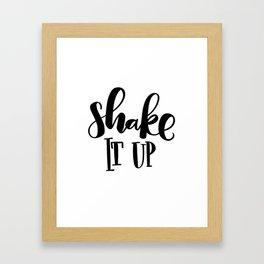 Shake It Up: white Framed Art Print