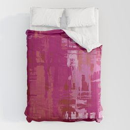 Lesbian Pride Rough Crosshatched Paint Strokes Comforters