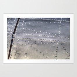 Aluminium Aircraft Skin Texture Art Print