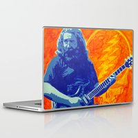 grateful dead Laptop & iPad Skins featuring Jerry Garcia - The Grateful Dead by Tipsy Monkey