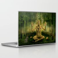 the cure Laptop & iPad Skins featuring Magic forest cure by teddynash