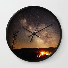 The Salty Raven of Cape Meares Milky Way Wall Clock