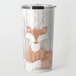 Snow Fox Travel Mug