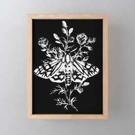 butterfly black Framed Mini Art Print