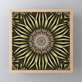 Hypnotic flower Framed Mini Art Print