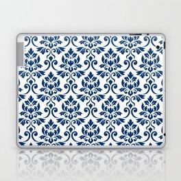 Feuille Damask Pattern Dark Blue on White Laptop & iPad Skin