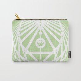 Radiant Abundance (light green-white) Carry-All Pouch